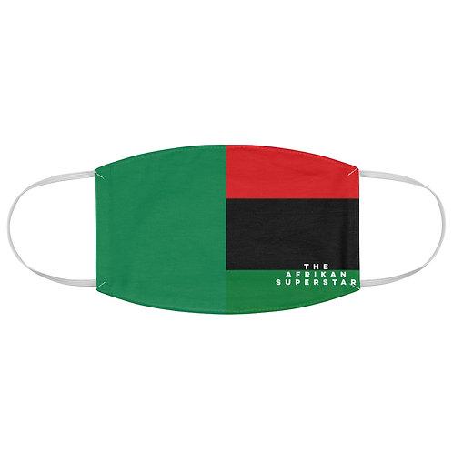 Green Split Pan African Fabric Face Mask