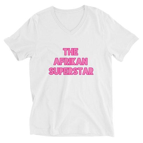 Afrikan Superstar Unisex Short Sleeve V-Neck T-Shirt