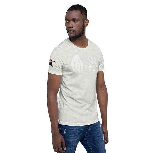 "Light Grey ""Black Love or Stay Single"" Short-Sleeve Unisex T-Shirt"