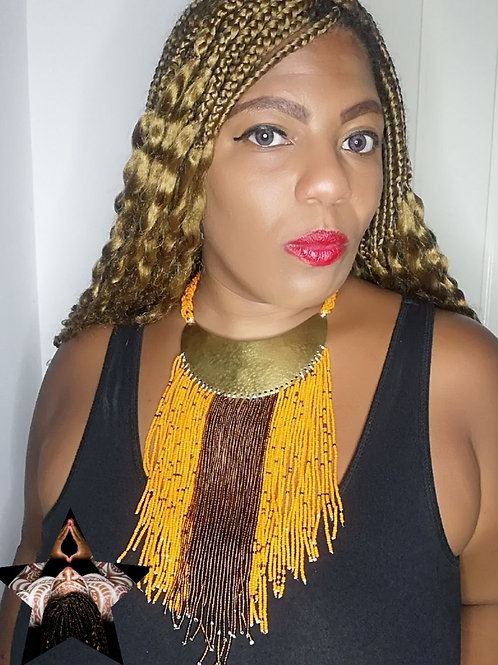 """""""Fire Passion"""" Cascading Statement Necklace"""