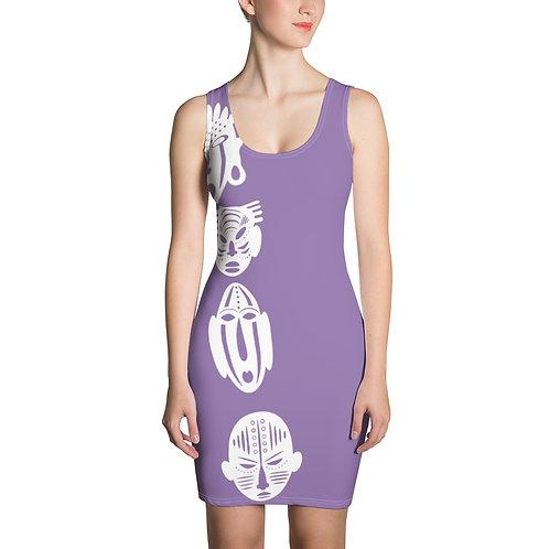 Lavender Cross Quad Mask Sublimation Cut & Sew Dress