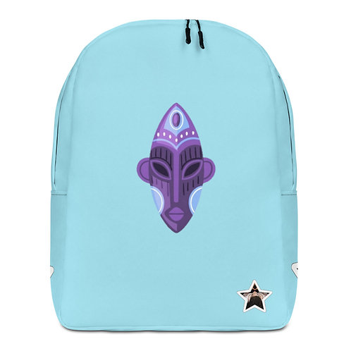 Blue Orchid Mask Minimalist Backpack