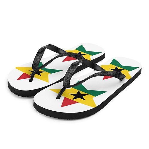 White Ghana All Star Flip-Flops