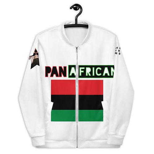 White Proud Pan African Unisex Bomber Jacket