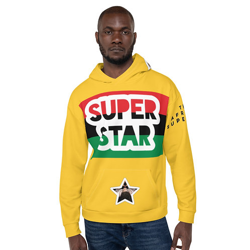 Yellow Superstar Pan African Unisex Hoodie