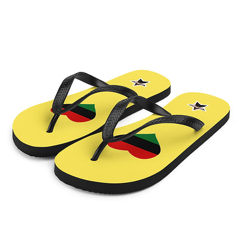 Yellow Love Pan African Flip-Flops