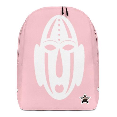 Pink Mask Minimalist Backpack