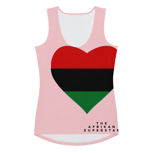 Pink Pan African Love Sublimation Cut & Sew Tank Top