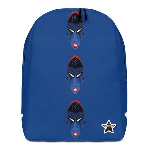 Royal Blue Mask Minimalist Backpack