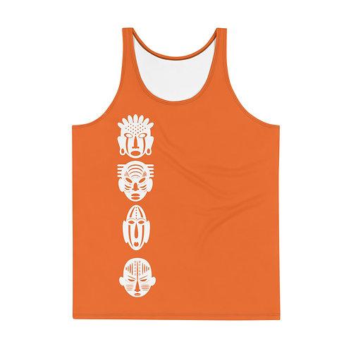 Men's Orange Quad Tank Top