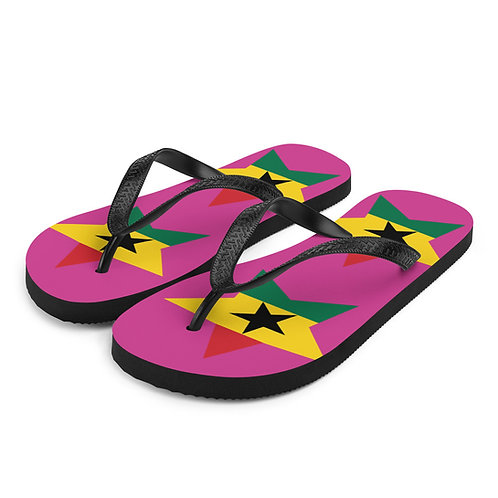 Pink Ghana All Star Flip-Flops