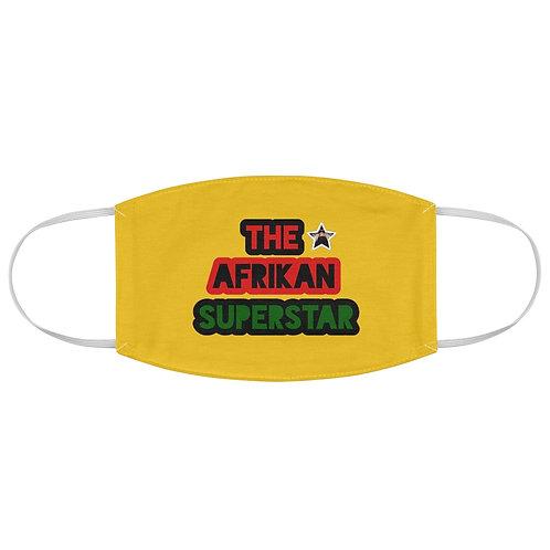 Yellow Afrikansuperstar Logo Fabric Face Mask