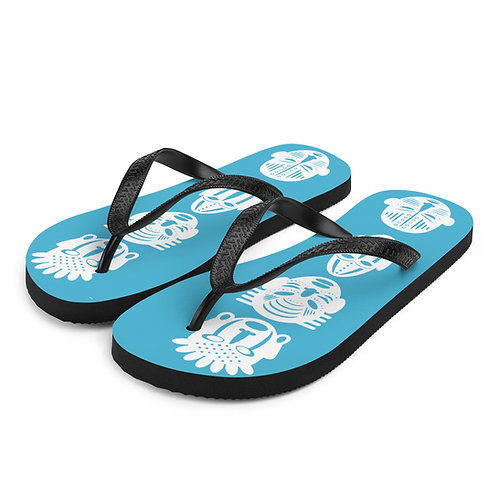 Blue Quad Mask Flip-Flops