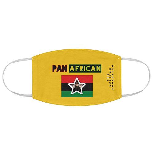 Yellow Proud Pan African Fabric Face Mask