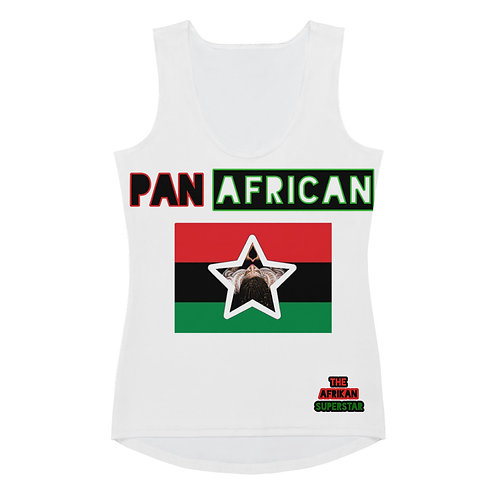White Proud Pan African Sublimation Cut & Sew Tank Top