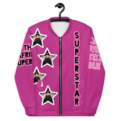 """Pink """"Superstar"""" Bomber Jacket"""
