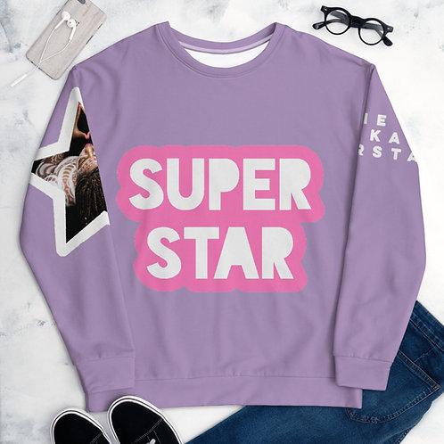 Lavender Superstar Unisex Sweatshirt