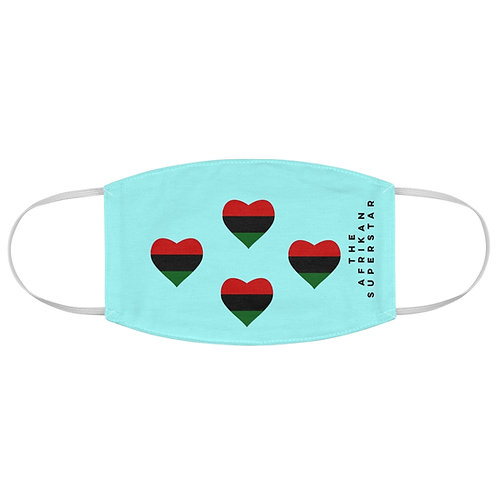 Quad Blue Pan African Love Fabric Face Mask