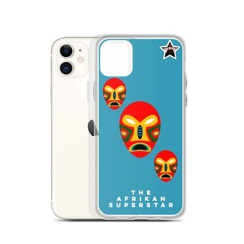 Designer Blue Flame Mask iPhone Case
