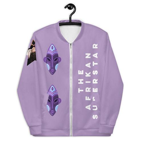 Lavender Orchid Mask Unisex Bomber Jacket