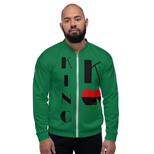 Green Pan African King Unisex Bomber Jacket