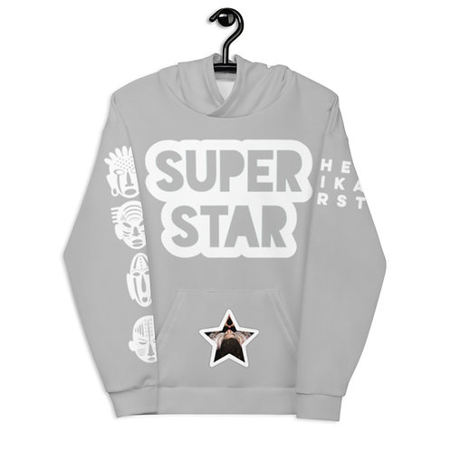 Grey Quad Superstar Pan African Unisex Hoodie
