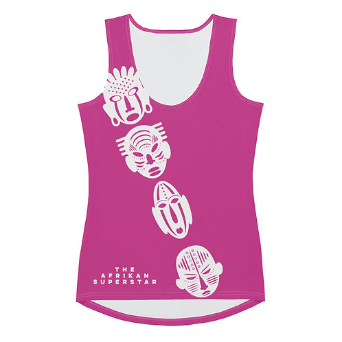 Pink Ivory Cross Mask Sublimation Cut & Sew Tank Top
