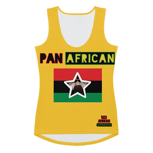Yellow Proud Pan African Sublimation Cut & Sew Tank Top