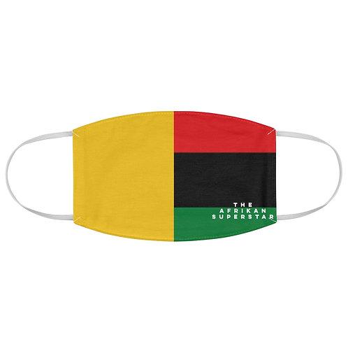 Yellow Split Pan African Fabric Face Mask