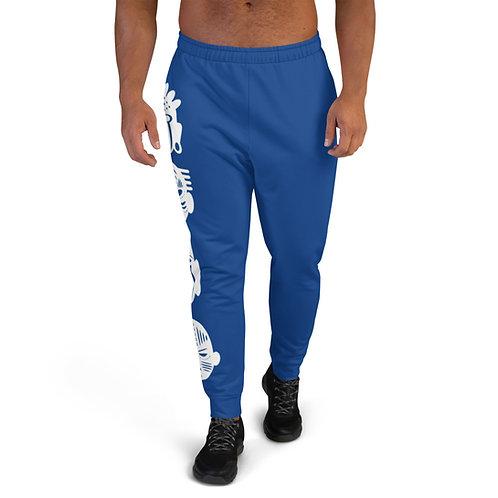 Blue Quad Mask Men's Joggers