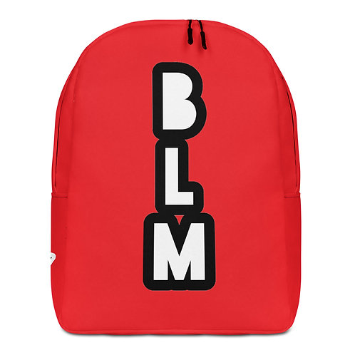 Red BLM Minimalist Backpack