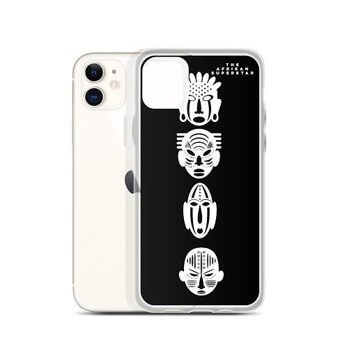 Designer Black Quad Mask iPhone Case