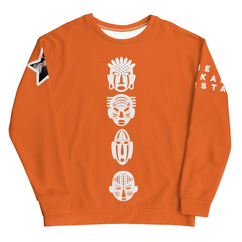 Orange Quad Mask Unisex Sweatshirt
