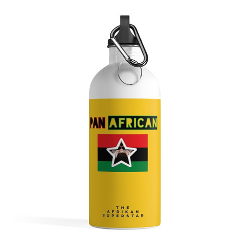 Yellow Proud Pan African Stainless Steel Water Bottle