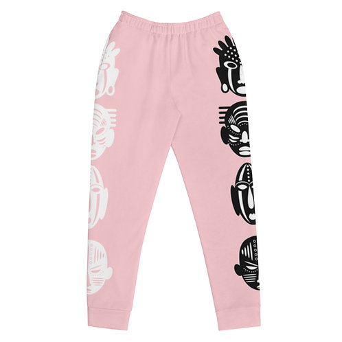 Pink Double Mask Women's Joggers