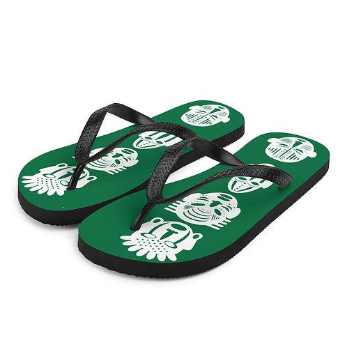 Green Quad Mask Flip-Flops