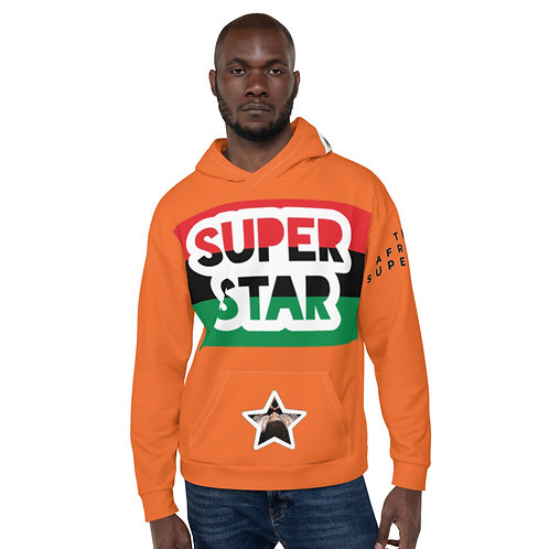 Orange Superstar Pan African Unisex Hoodie