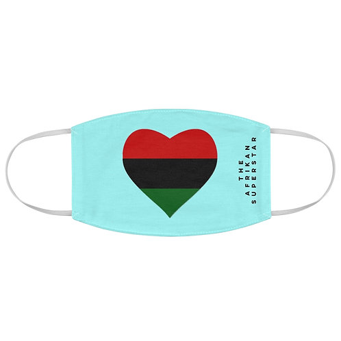Blue Pan African Love Fabric Face Mask