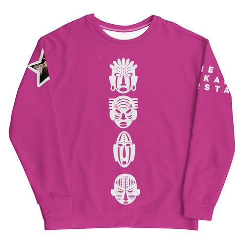 Pink Quad Mask Unisex Sweatshirt