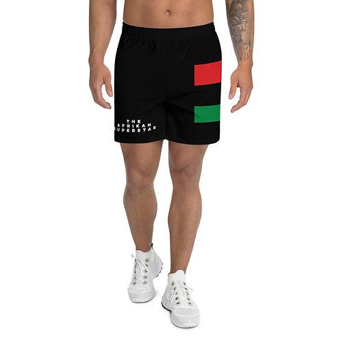 Black Pan African Men's Athletic Long Shorts