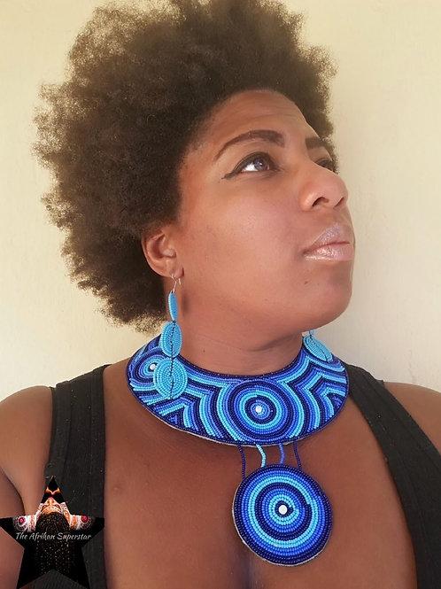 Zanzibar Treasure Statement Collar Necklace & Earring Set