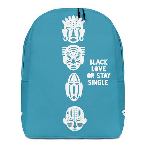 Blue Quad Mask Minimalist Backpack