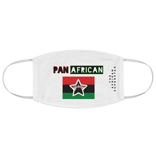 White Proud Pan African Fabric Face Mask