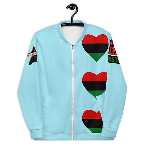 Blue Pan African Love Unisex Bomber Jacket