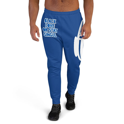 "Royal Blue ""Black Love or Stay Single Men's Joggers"