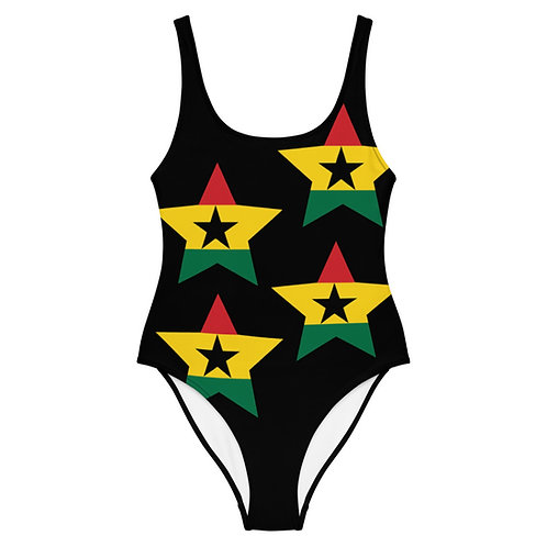 Black Ghana All Star One-Piece Swimsuit