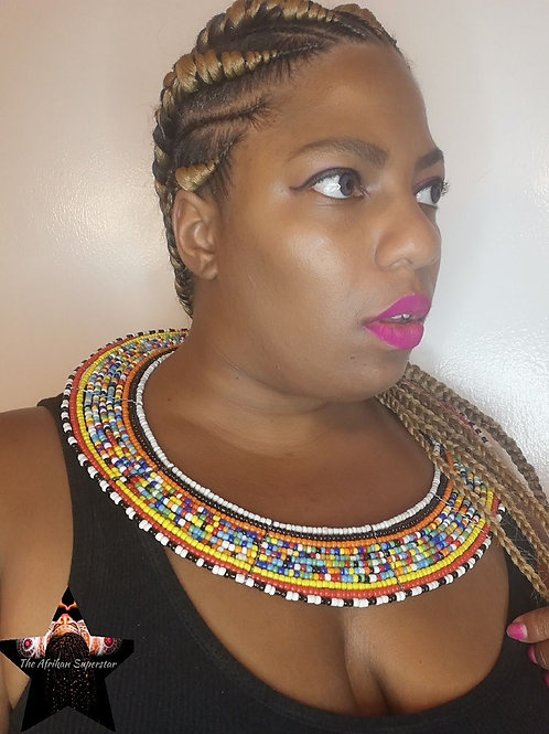 "Multi ""Forever African"" Maasai Collar Necklace"