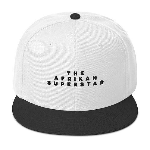 Horizontal The Afrikan Superstar black logo Snapback Hat