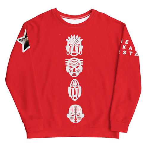 Red Quad Mask Unisex Sweatshirt