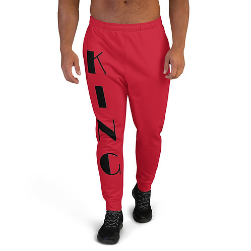 "Red ""King"" Men's Joggers"